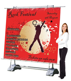 horizon outdoor banner stand graphic