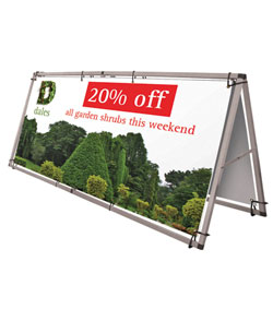 monsoon outdoor banner stand graphic