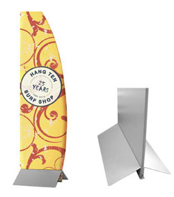 wedge tension banner stand graphic